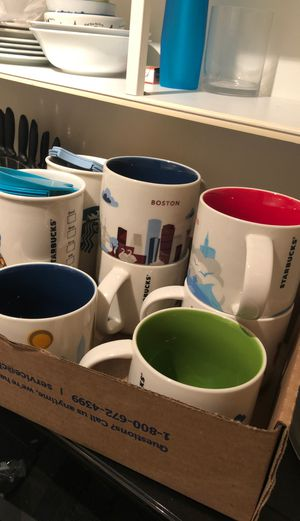 Starbucks city and Disney mugs 8 Ct for Sale in New York, NY