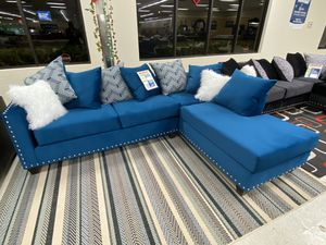 Brand new blue fabric sectional sofa for Sale in Dallas, TX