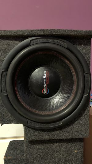 "Two 12"" subwoofers American Bass 1000w for Sale in Austin, TX"