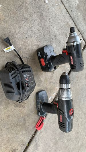 Craftsman drill and impact drill and chargers. for Sale in Gardena, CA