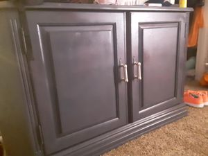 Nice just painted media/storage cabinet with new stainless steel pulls for Sale in Burlington, NC