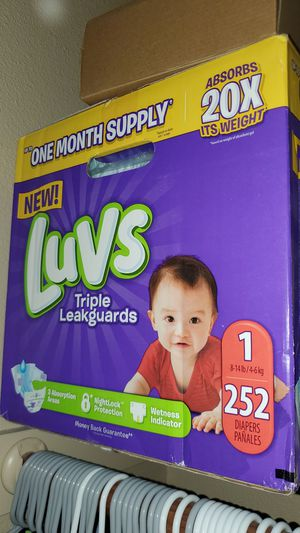 252 Diapers Size 1 - New closed box for Sale in Mesa, AZ