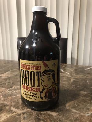 Princess Potosa root beer Potosi Wisconsin ACL soda water bottle half gallon. Condition is Used. Shipped with USPS Priority Mail. Princess Potosa roo for Sale in Elgin, IL