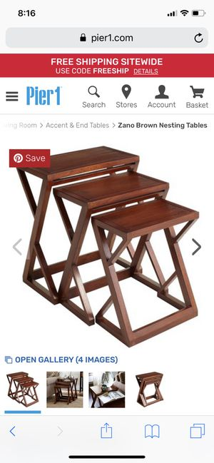 Nesting Tables - Pier 1 imports for Sale in Chicago, IL