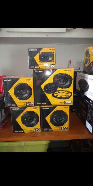 Brand New!!!! Kicker Speakers DS model🔊🔊🔊 for Sale in Phoenix, AZ