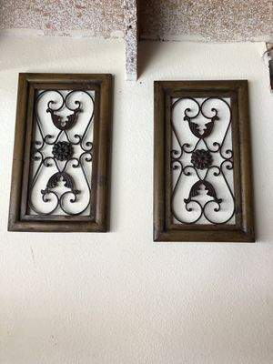 22x13 vintage wall decorations iron and wooden for Sale in Huntington Beach, CA