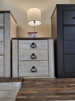 Nightstand with 2 slim USB Ports, Whitewash for Sale in Norwalk, CA
