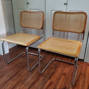 Pair Vintage Cesca Chairs- Armless for Sale in Seattle, WA
