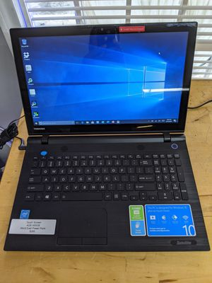 """Perfect for SCHOOL OR HOME OFFICE 15.6"""" Toshiba Laptop Touch Screen 4GB 500GB Hard Drive. Comes with Office Word Exel PowerPoint for Sale in Dallas, TX"""