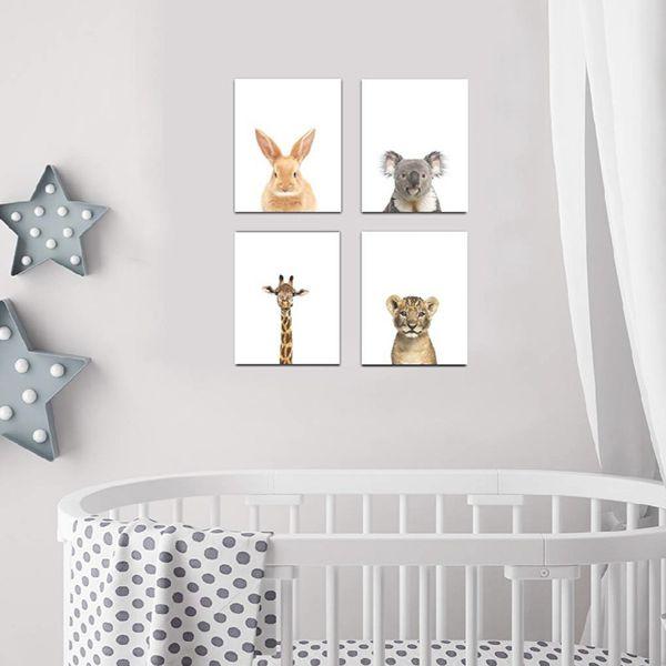 Baby Nursery Decor Wall Prints Set Of 4 Safari