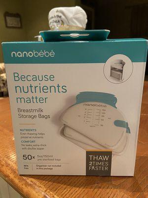 New nanobebe breast milk storage bags for Sale in Orange, CA