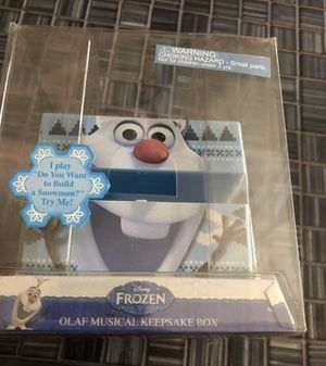Frozen Olaf musical keepsake box for Sale in Dearborn Heights, MI