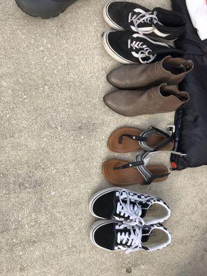 Vans, sandals, boots for Sale in Goose Creek, SC