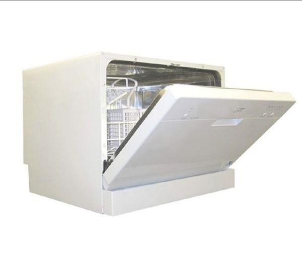 Small movable countertop dishwasher