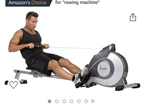 Sunny Health & Fitness SF-RW5515 Magnetic Rowing Machine Rower w/LCD Monitor for Sale in NJ, US