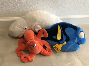 Lot of plush stuffed animals Finding Dory - including Hank & Bailey for Sale in Wellington, FL