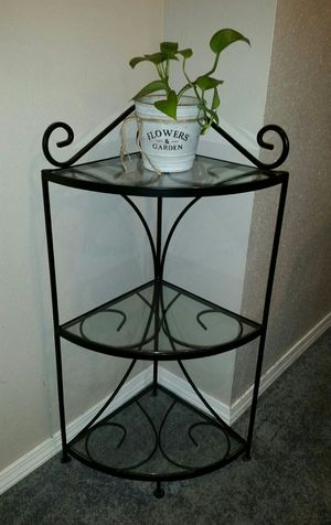 Pier One Imports three-tier glass corner shelf for Sale in Denver, IA