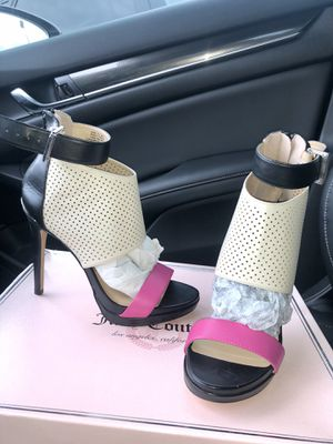 Juicy Couture heels in box for Sale in Charlotte, NC