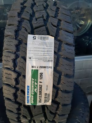 NEW TIRES 35 12.50 20, 35/12.50R20 TOYO OPEN COUNTRY ATII for Sale in Garland, TX