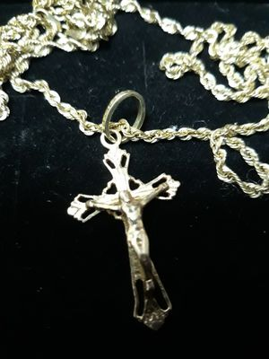 Cross with chain for Sale in Fort Worth, TX
