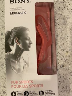 Sony MDR-AS210/P Sport In-ear Headphones, Pink for Sale in Washington,  DC