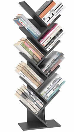 Homfa Tree Bookshelf BookRack, 9-Shelf Bookcase, Artistic Book Organizer, Space-Sa... for Sale in Atlanta,  GA