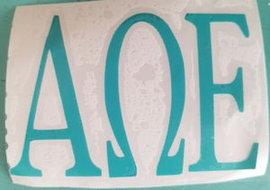 Greek letter decals any color or letters for Sale in NC, US