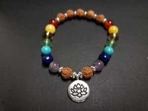 **NATURAL STONE- 7 Chakra Healing Bracelet (healing,calm emotions,remove negative energy, health Benefits-see photos) for Sale in Rancho Cucamonga, CA