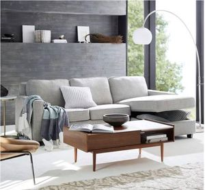West Elm Henry Couch Sleeper Sofa w/ Storage Chaise - Slate Tweed for Sale in New York, NY