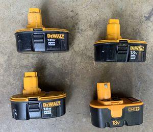 Dewalt 18v XRP Batteries/DeWalt 18 V battery x RP, $20 each for Sale in San Diego, CA