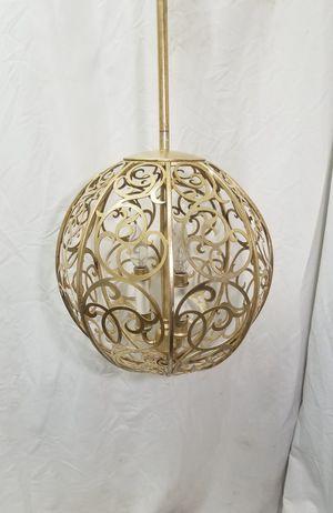 "Mid-Century Brass Tone 14"" Ball Globe Orb 3 Candlelight Ceiling Chandelier(REAR) for Sale in San Bernardino, CA"