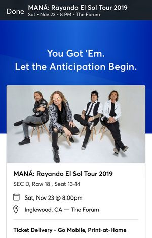 Maná tickets for Sale in Los Angeles, CA