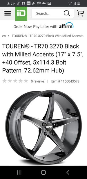 19' Black and steel rims for Sale in Danbury, CT