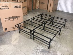 Tempo Collection 14 inch High Profile Platform Smart Base Bed Frame, Queen for Sale in Santa Fe Springs, CA