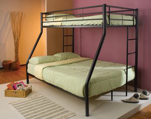 Black TWIN/FULL BUNK BED for Sale in Hollywood, FL