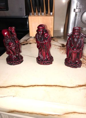 3 ROSEWOOD CARVINGS FROM CHINA for Sale in Pompano Beach, FL