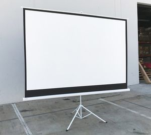 """(NEW) $70 Tripod Stand 100"""" Projector Screen 16:9 Ratio Projection Home Theater Movie for Sale in El Monte, CA"""