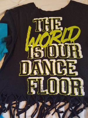 Zumba tshirts size large with fringe for Sale in Pismo Beach, CA