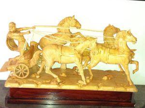 Chariot wood sculpture for Sale in Fort Belvoir, VA