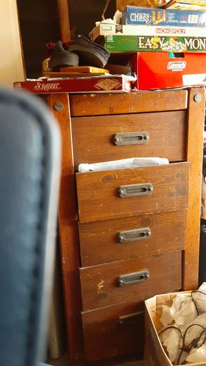 Antique solid wood trunk drawers for Sale in Long Beach, CA