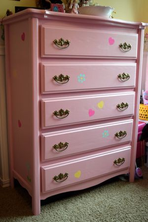 Pink Wooden Dresser for Sale in Puyallup, WA