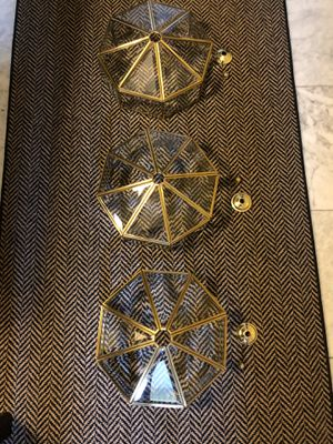 BRASS LIGHT FIXTURES (3) for Sale in Arlington, VA