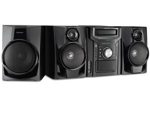 Sharp Home Audio System 5 Disc SH Shelf Speaker Subwoofer With Cassette & Bluetooth 350W Sist for Sale in Miami, FL