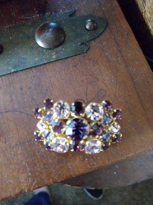Purple rhinestones pin for Sale in Fresno, CA