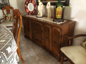 Antique Style Wood Cabinet for Sale in Miami, FL