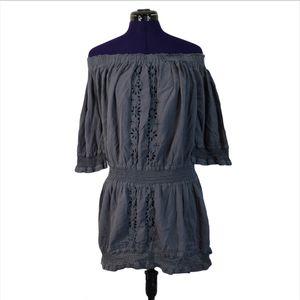 Tularosa Gray Eyelet Off Shoulder Dress for Sale in Las Vegas, NV