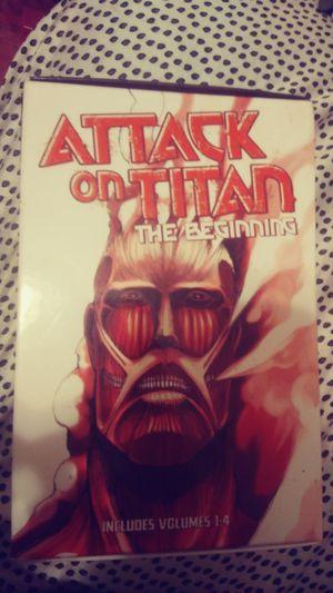 Attack on titan volume 1-4 for Sale in San Antonio, TX