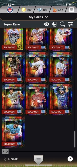LOTS OF TOPPS BUNT(DIGITAL CARD) SUPER RARES for Sale in Canton, GA