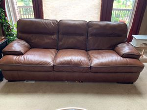 ART VAN Cody brown leather sofa for Sale in Fort Wayne, IN