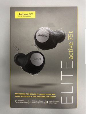 Wireless earbuds Jabra Elite active 75t. New sealed. Pick up only!!!! for Sale in Los Angeles, CA
